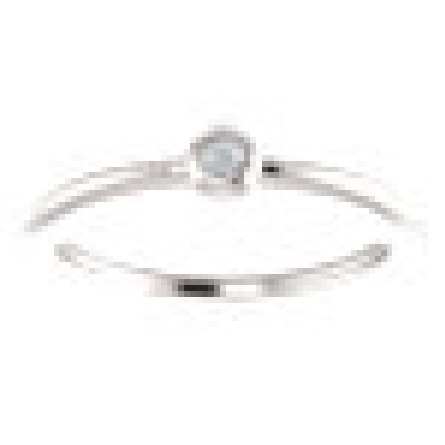 14 karat white gold stackable ring with bezel-set .03 carat diamond GH/I1