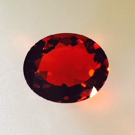 loose fire opal in the almost-red that is very desired; but increasingly more rare. 3.07 carat; 11x9mm. Big and beautiful!