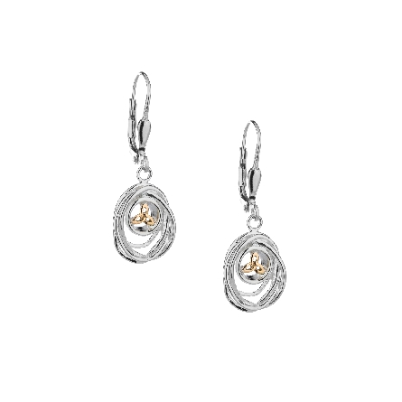 These earrings are part of Keith Jack s Celtic-inspired Cradle of Life Collection. They are made of sterling silver and 10 karat yellow gold; and dangle from lever backs. Wear these earrings as a reminder that our lives are forever intertwined with t