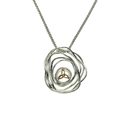 This pendant is part of Keith Jack s Cradle of Life Collection. It is made of sterling silver and 10 karat yellow gold; and comes with an 18 inch wheat chain. Wear this pendant as a reminder that our lives are forever intertwined with those we love.