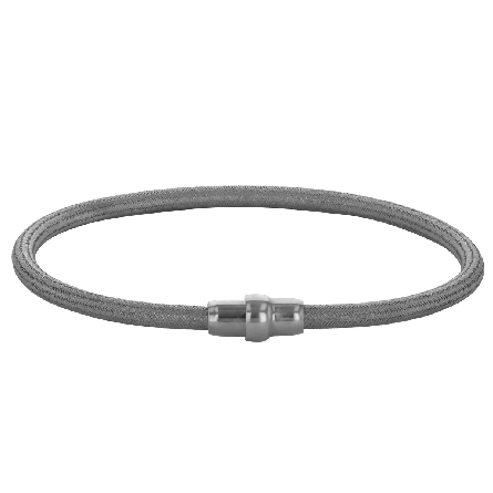 sterling silver bracelet with magnetic clasp; textured cable